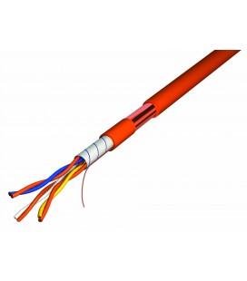 Câble téléphonique 1 paire 9/10 Anti-feu CR1/C1 (100 mètres)