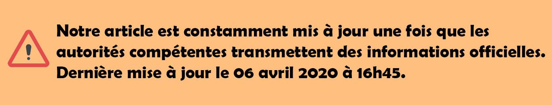 Mise à jour de l'article le 06/04/2020