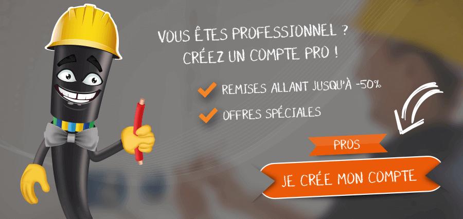Vous êtes professionnel ? Créez un compte pro !